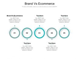 Brand Vs Ecommerce Ppt Powerpoint Presentation Icon Layout Ideas Cpb