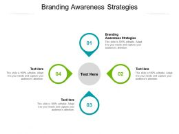 Branding Awareness Strategies Ppt Powerpoint Presentation Pictures Ideas Cpb
