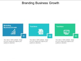 Branding Business Growth Ppt Powerpoint Presentation Model Skills Cpb