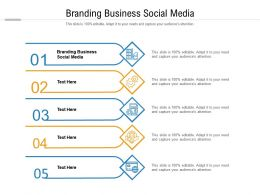 Branding Business Social Media Ppt Powerpoint Presentation Styles Slides Cpb