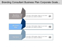 Branding Consultant Business Plan Corporate Goals Performance Management Cpb