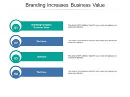 Branding Increases Business Value Ppt Powerpoint Presentation Layouts Icon Cpb