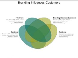 Branding Influences Customers Ppt Powerpoint Presentation Layouts Background Images Cpb