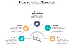 Branding Levels Alternatives Ppt Powerpoint Presentation Ideas Sample Cpb