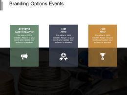 Branding Options Events Ppt Powerpoint Presentation Pictures Format Ideas Cpb