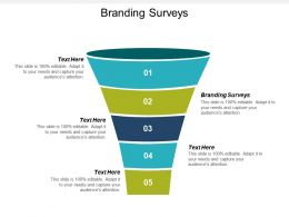Branding Surveys Ppt Powerpoint Presentation Ideas Graphics Tutorials Cpb