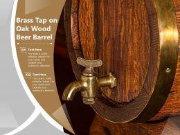 Brass Tap On Oak Wood Beer Barrel