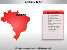 Brazil Country Powerpoint Maps