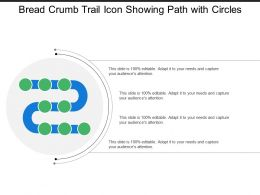 Bread Crumb Trail Icon Showing Path With Circles