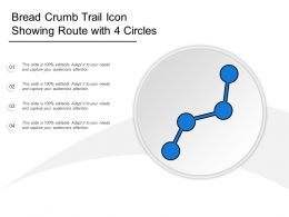 Bread Crumb Trail Icon Showing Route With 4 Circles