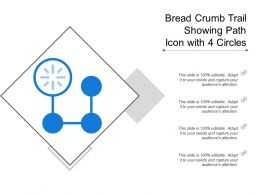 Bread Crumb Trail Showing Path Icon With 4 Circles