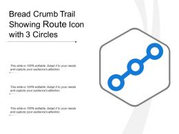 Bread Crumb Trail Showing Route Icon With 3 Circles