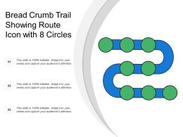 Bread Crumb Trail Showing Route Icon With 8 Circles