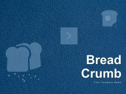 Bread Crumb Trail Showing Route Icon With Box Icon With 4 Circles