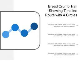 Bread Crumb Trail Showing Timeline Route With 4 Circles