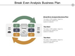 Break Even Analysis Business Plan Ppt Powerpoint Presentation Icon Background Image Cpb