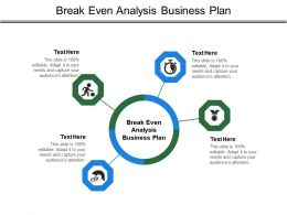 Break Even Analysis Business Plan Ppt Powerpoint Presentation Professional Model Cpb