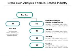 Break Even Analysis Formula Service Industry Ppt Powerpoint Presentation Show Background Images Cpb