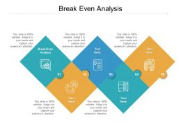 Break Even Analysis Ppt Powerpoint Presentation Infographics Outfit Cpb