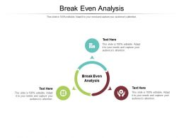 Break Even Analysis Ppt Powerpoint Presentation Layouts Professional Cpb