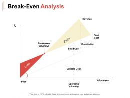 Break Even Analysis Ppt Powerpoint Presentation Styles Structure