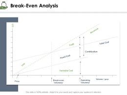 Break Even Analysis Total Cost Ppt Powerpoint Presentation Example File