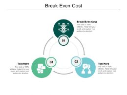 Break Even Cost Ppt Powerpoint Presentation Icon Backgrounds Cpb