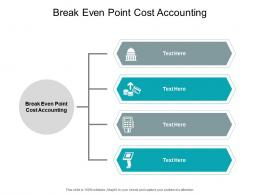 Break Even Point Cost Accounting Ppt Powerpoint Presentation Infographics Format Cpb