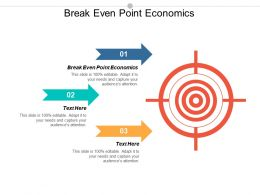 Break Even Point Economics Ppt Powerpoint Presentation Professional Slide Cpb