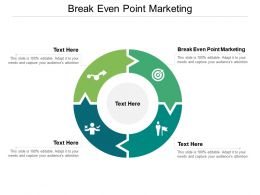 Break Even Point Marketing Ppt Powerpoint Presentation Styles Example Cpb