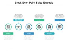 Break Even Point Sales Example Ppt Powerpoint Presentation Portfolio Objects Cpb