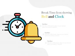 Break Time Icon Showing Bell And Clock