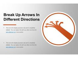 Break Up Arrows In Different Directions