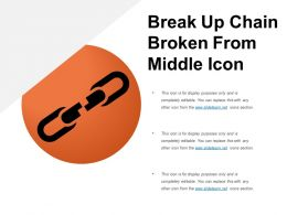 Break Up Chain Broken From Middle Icon