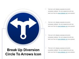 Break Up Diversion Circle To Arrows Icon