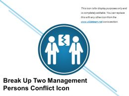 Break Up Two Management Persons Conflict Icon