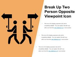 Break Up Two Person Opposite Viewpoint Icon