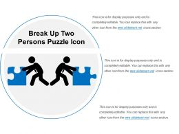 Break Up Two Persons Puzzle Icon