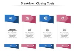 Breakdown Closing Costs Ppt Powerpoint Presentation Styles Show Cpb