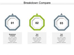 Breakdown Compare Ppt Powerpoint Presentation Styles Influencers Cpb