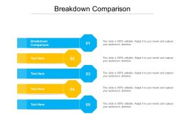 Breakdown Comparison Ppt Powerpoint Presentation Slides Example Introduction Cpb