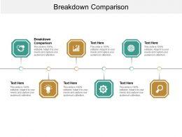 Breakdown Comparison Ppt Powerpoint Presentation Summary Outline Cpb