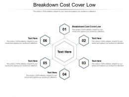 Breakdown Cost Cover Low Ppt Powerpoint Presentation Styles Designs Download Cpb