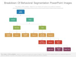 Breakdown Of Behavioral Segmentation Powerpoint Images