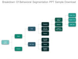 Breakdown Of Behavioral Segmentation Ppt Sample Download