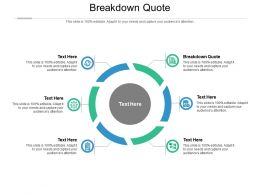 Breakdown Quote Ppt Powerpoint Presentation Model Summary Cpb