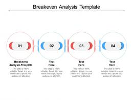 Breakeven Analysis Template Ppt Powerpoint Presentation Professional Show Cpb