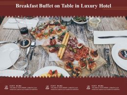 Breakfast Buffet On Table In Luxury Hotel
