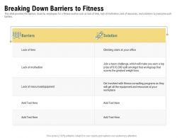 Breaking Down Barriers To Fitness Greatest Workgroup Ppt Powerpoint Presentation Outline
