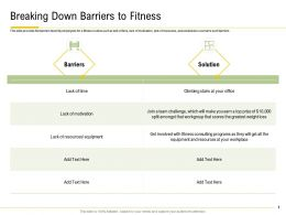 Breaking Down Barriers To Fitness Lack Motivation Ppt Powerpoint Files